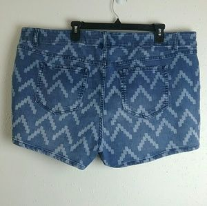 Torrid Denim Aztec Pattern Shorts